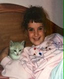 Me, my rad kitten, and my awful 80's hair